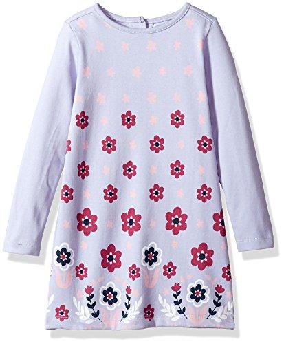 Hatley Little Girls' MOD Dress, Retro Pink Daisy Moderate Dress, 6