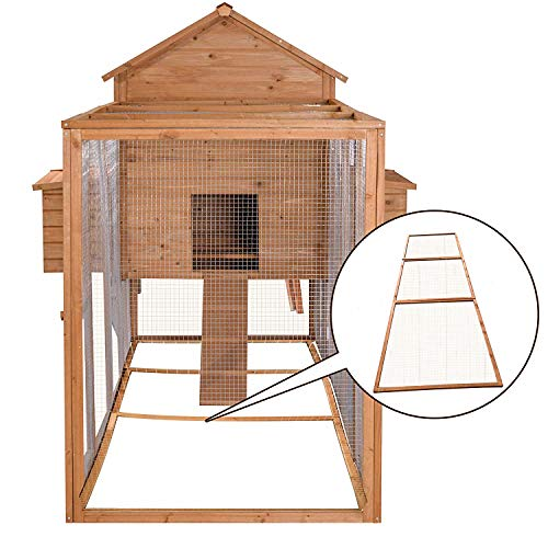 Lovupet 12ft Large Backyard Hen House Wooden Chicken Coop w/Long Run, Base Panel (3)