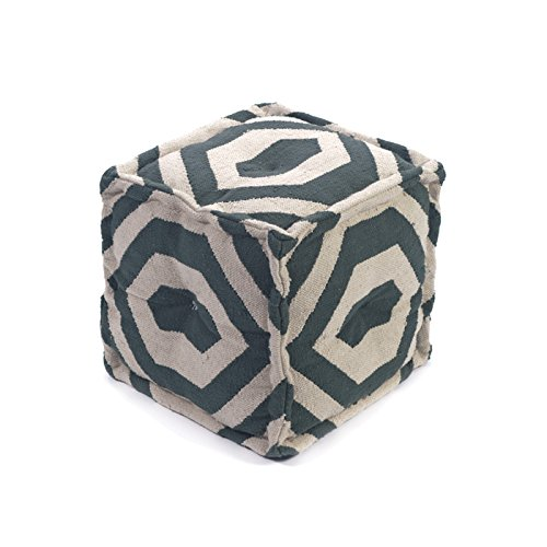 Eclipse Home Collection Square Garnet Pouf 16'' L x 16'' W x 16'' H