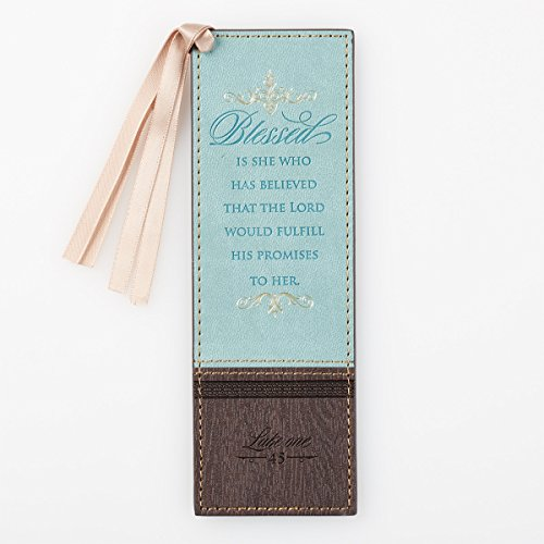 Bookmark, Blessed Is She, Light Blue and - Christian Bookmarks