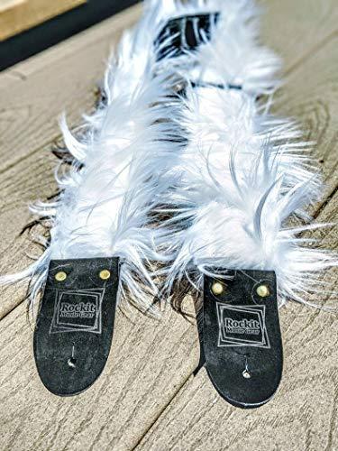 - White Faux Fur Handmade Guitar Strap
