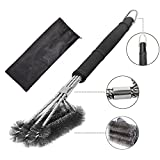 Grill Cleaning Brush,Stainless Steel 18″ BBQ Grill Cleaning Brush with Wire Bristles and Soft Comfortable Handle – Perfect Brush & Scraper for Ceramic,Iron,Gas & Porcelain Barbecue Grates