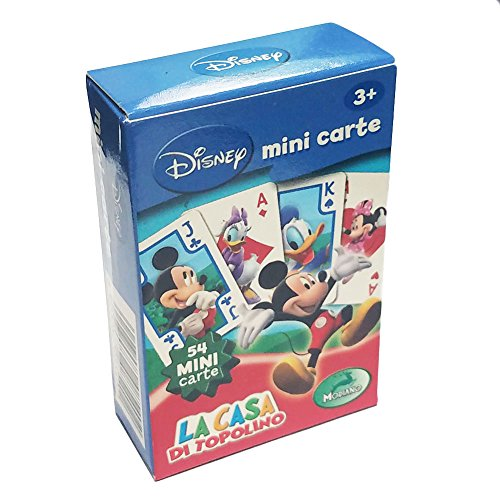 Mickey Playing Cards Mouse (Deck 54 Mini Playing Cards Mickey Mouse Disney Carte Gioco La Casa di Topolino)