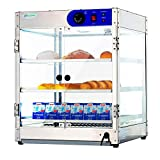 24 Inches Countertop Commercial Hot Food Warmer Display 20Lx20Wx24H Case Food Showcase for Restaurant Heated Cabinet Pizza Empanda Pastry Patty