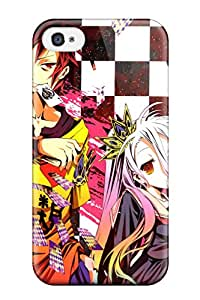 Hot No Game No Life First Grade Tpu Phone Case For Iphone 4/4s Case Cover