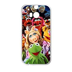 HTC One M8 Cell Phone Case White MUPPETS KERMIT PIGGY FUN ukoe