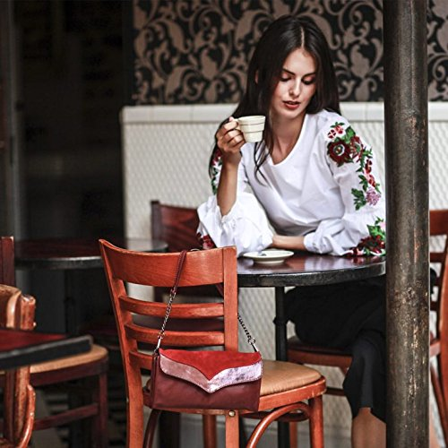 Léa Bandoulière Toni Pochette Cuir En Noémie Femme Bordeaux Sac rCrvw6AxFq