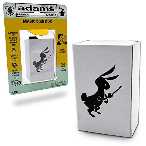 Adams Pranks and Magic - Magic Coin Box - Classic Novelty Magic - Adams Costume Kit