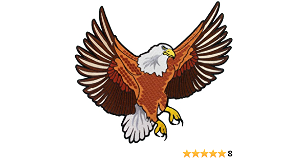 Smaller Version American Bald Eagle United States Patriotic USA Patch C605