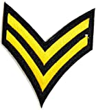 US Rank Corporal Uniform Suit Vest Patch army navy academy military us air force academy cavalry marine corps national guard logo Jacket Patch Sew Iron on Embroidered Sign Badge Costume