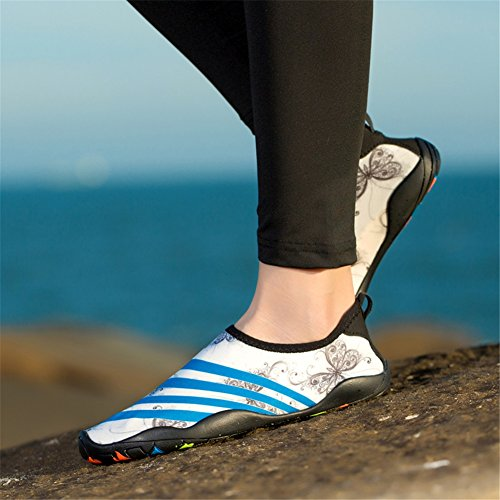 Swimming Diving Women amp; Sole Dry Swim Men B Scuba Water Shoes Running Shoes Yoga for Rubber Snorkeling Shoes Quick Shoes Adult Beach Barefoot gwY8aqKF