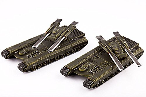 Hawk Wargames DZC21010 UCM: Gladius Heavy Battle Tanks (2)