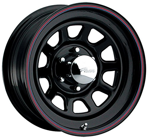 Suzuki Samurai Rims (Pacer 342B BLACK DAYTONA Black Wheel (15x7/5x5.5, 0mm Offset))