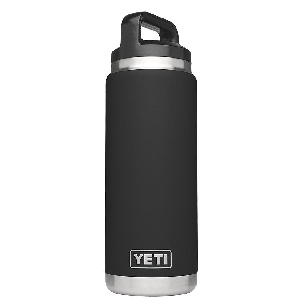 YETI Rambler 26oz Vacuum Insulated Stainless Steel Bottle with Cap, Black DuraCoat by YETI
