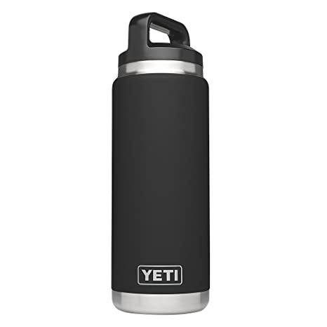 1ee8cdeb9c4 YETI Rambler 26oz Vacuum Insulated Stainless Steel Bottle with Cap, Black  DuraCoat