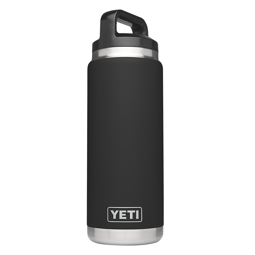 YETI Rambler 26oz Vacuum Insulated Stainless Steel Bottle with Cap, Black DuraCoat by YETI (Image #1)