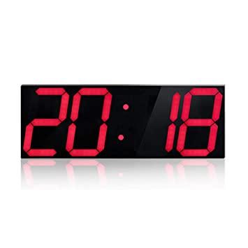 Living Room Wall Clock, Reloj electrónico, LED Reloj Luminoso, Moderno Mudo WiFi Alarm Clock,De Gules: Amazon.es: Hogar