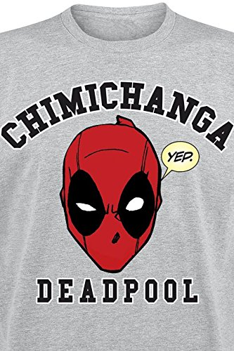 Deadpool Chimichanga Camiseta Gris Gris
