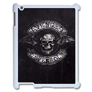 3D **ENGED SEVENFOLD Vintage Logo IPad 2,3,4 2D Case, Protector Case Ipad Case for Ipad 2 Stevebrown5v {White}