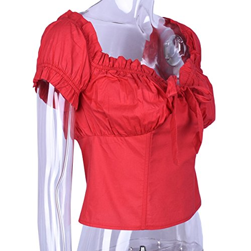 T D't Clubwear Sexy Courtes T Femme Shirt Red Shirt Jahurto Mini Manches 0vWFnF