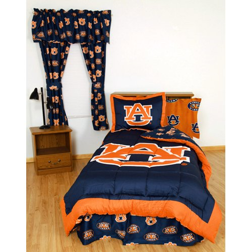 (College Covers Auburn Tigers Bed in a Bag Twin - with Team Colored Sheets )
