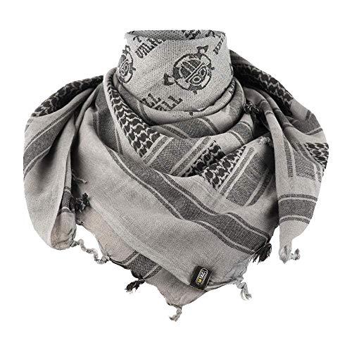 (M-Tac Shemagh Viking Tactical Desert Head Neck Scarf Keffiyeh Mens Military Army Cotton Wrap (Gray - Black))
