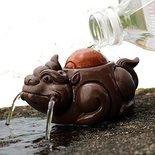 Zisha Tea Pet Brave Troops Tea Tray Furnishing Articles Tea Water Play