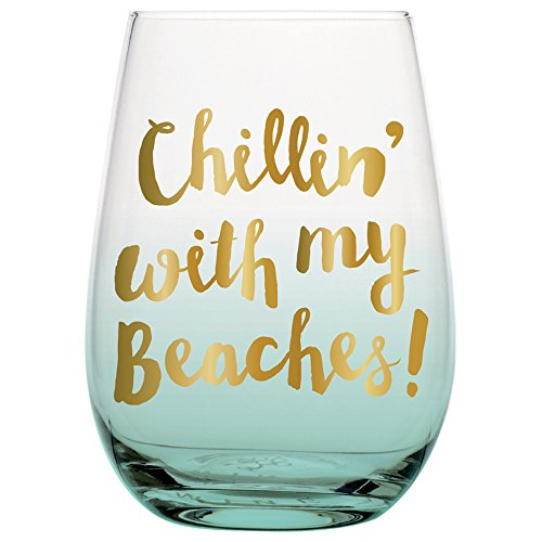 20 oz Big Stemless Wine Glass with Funny Saying,