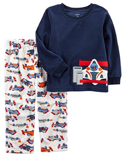 Carter's Boys' 12M-14 2 Piece Racecar Fleece Pajamas 4T
