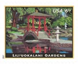 USPS Priority Mail Stamps (4) $6.65 rate Lili'uokalani Gardens - Sheet of 4