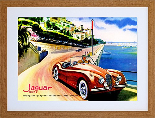 9x7 '' Jaguar Monte Carlo Circuit CAR Automobile Framed Art Print F97X1798
