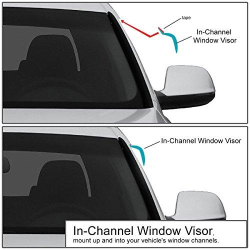 For Chevy Silverado//GMC Sierra 1st Gen Extended Cab 4pcs Tape-On Window Visor Deflector Rain Guard Auto Dynasty