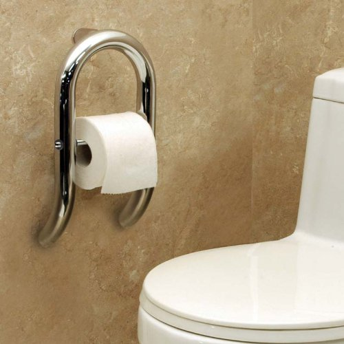 Invisia Wall Toilet Roll Holder-Brushed Stainless Steel Finish