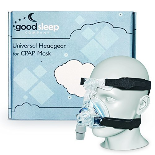 CPAP Headgear Replacement Straps - Ultra Comfortable, Compatible with Most Masks - Tight Seal 4 Point Connection System [Mask & Clips NOT Included - See List] ()