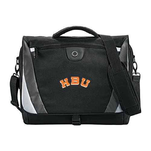 - Houston Baptist Slope Black/Grey Compu Messenger Bag 'HBU'