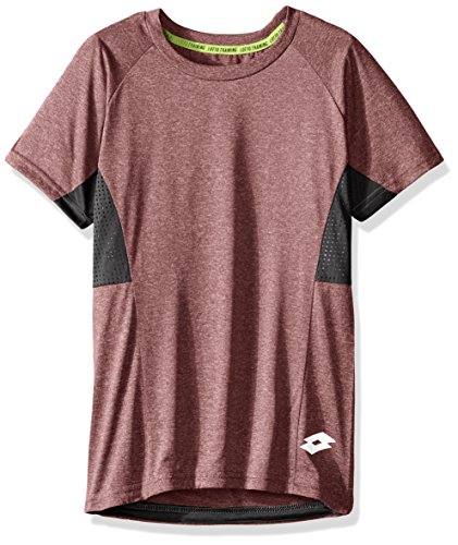Lotto Boys Slim Size Spacedyed Ss Active Tee  Burgundy  Xl