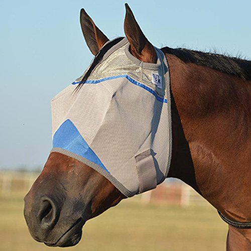 Cashel Crusader Standard Fly Mask with Blue Trim, Benefit Wounded Warriors - Size: - Cashel Mask Pink Fly