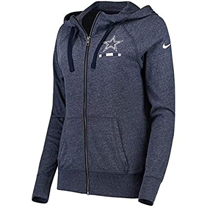 purchase cheap c82be b6f41 Nike Dallas Cowboys Womens Gym Vintage Full Zip Hoody Sweatshirt -  Heathered Navy