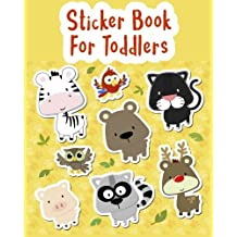 Sticker Book For Toddlers: Blank Sticker Book, 8 x 10, 64 Pages