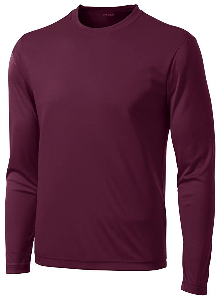 64b5c077 Amazon.com: DRI-Equip Long Sleeve Moisture Wicking Athletic Shirts: Clothing