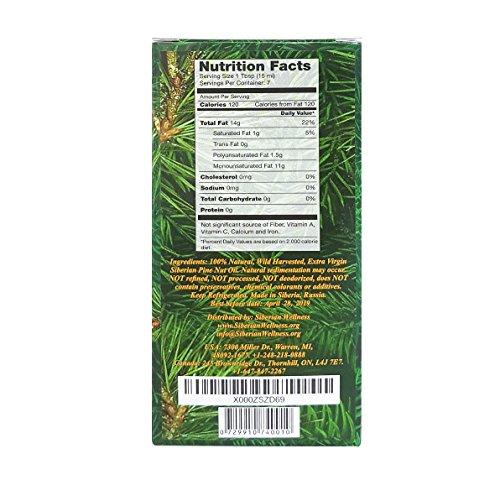 Extra Virgin Siberian Pine Nut Oil 3.4 fl oz/ 100 ml