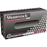 Shamrock Black Latex Disposable Gloves Powder-Free Textured (Case of 1000) xsmall