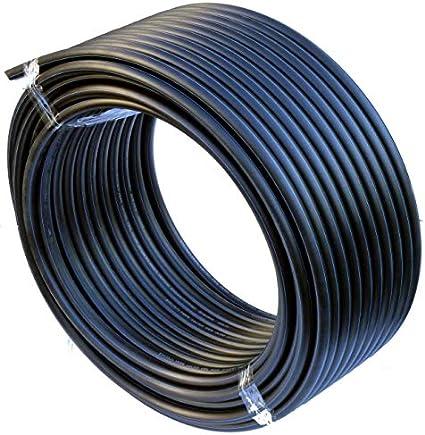 Tuyau PEHD Tuyau d/'eau Conduite d/'eau Tuyau en plastique Tuyau d/'arrosage Tuyaux noir 20mm x 25Meter Schwarz