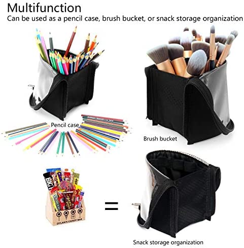 Makeup Brush Organzier Bag,High Capacity Portable Stand-Up Makeup Brush Holder,Professional Artist Makeup Brush Sets Case Waterproof Dust-proof Makeup Brush Cup