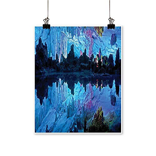Artwork for Office Decorations Illuminated Reed Flute Cistern with Artifical Lights Crystal Palace Myst Cave Canvas Living Room,20