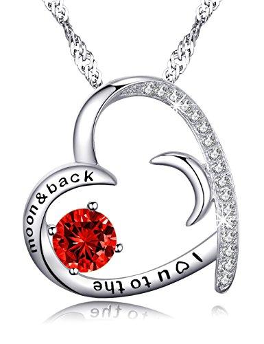 Valentines Day Gift for women Red Garnet Swarovski Necklace Fine Jewelry Anniversary Birthday Gift for Lady Present Women