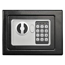 Stalwart Electronic Deluxe Digital Steel Safe,, Black