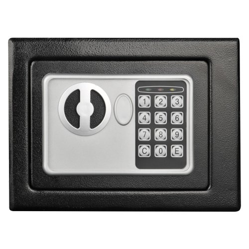 Stalwart Electronic Deluxe Digital Steel Safe,, Black