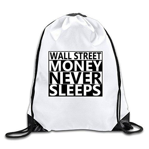 HAAUT Wall Street Money Never Sleeps Port Bag Drawstring Backpack