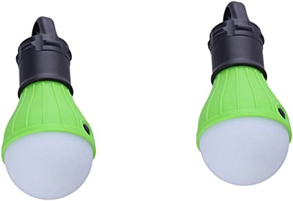 2Pcs 60 LED Ultra Bright Rechargeable Camping Tent Light Lantern Fishing Lamps